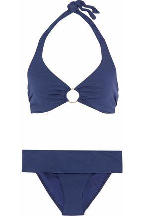 MELISSA ODABASH Brussels piqué underwired halterneck bikini