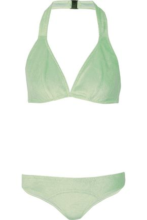 LISA MARIE FERNANDEZ Davina cotton-blend terry bikini