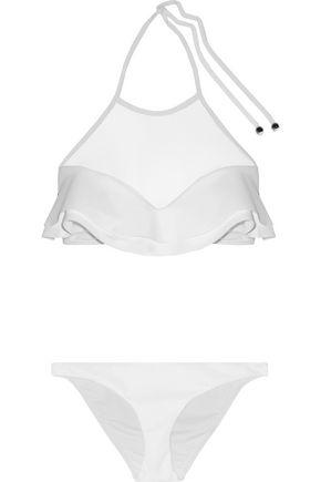 ZIMMERMANN Roza ruffled halterneck bikini