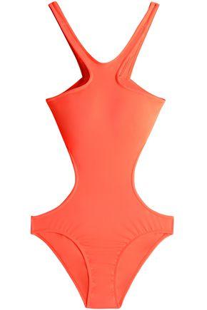 MELISSA ODABASH Ibiza neon cutout swimsuit