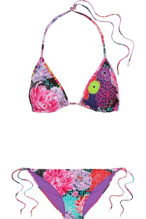 MATTHEW WILLIAMSON Floral-print triangle bikini