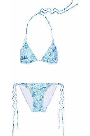 MELISSA ODABASH Snake-print bikini