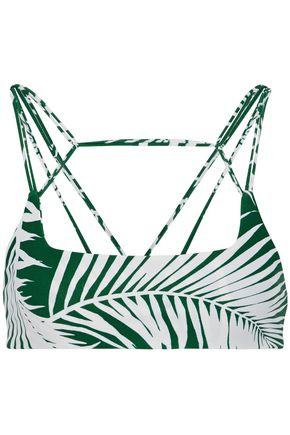 MIKOH Cutout printed bikini top