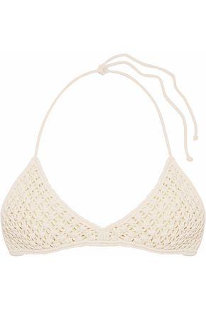 MIKOH Mokulua macramé halterneck bikini top