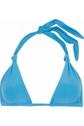 MIKOH Knotted triangle bikini top