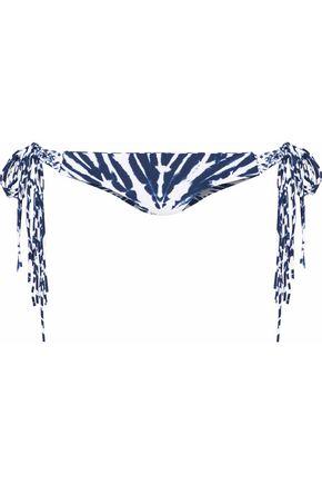 MIKOH Macramé-trimmed tie-dyed low-rise bikini briefs
