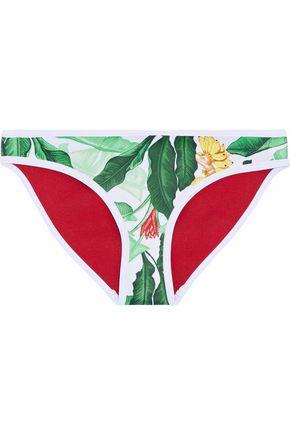 DUSKII Mid-rise printed neoprene bikini briefs