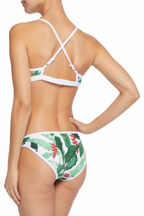 DUSKII Printed neoprene bikini top