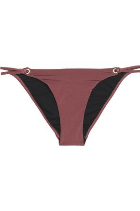 HEIDI KLUM SWIM Embellished eyelet crepe de chine swim briefs