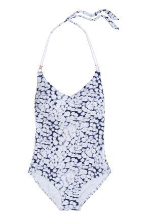 HEIDI KLUM SWIM Anse Cocos printed halterneck swimsuit