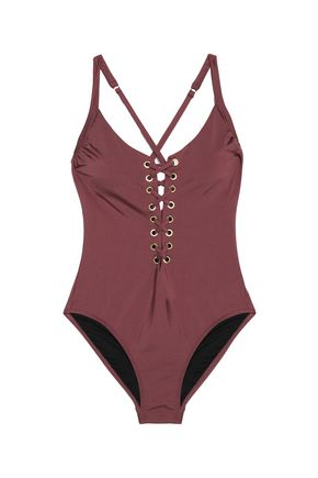 HEIDI KLUM SWIM Majestic lace-up swimsuit