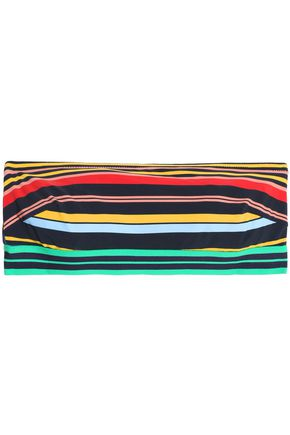 STELLA McCARTNEY Striped bandeau bikini top