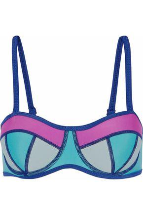 DUSKII Color-block neoprene bikini top