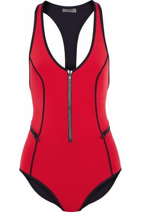 DUSKII Two-tone neoprene swimsuit