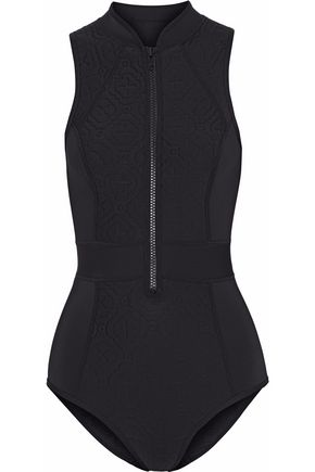 DUSKII Embossed neoprene swimsuit