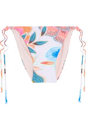 MARA HOFFMAN Printed low-rise bikini briefs