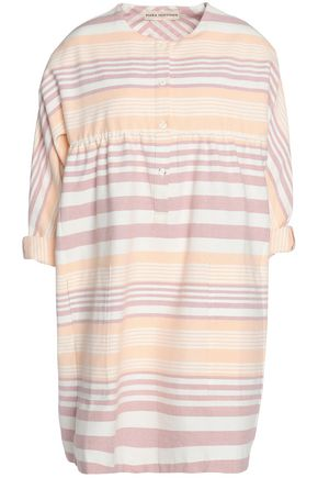 MARA HOFFMAN Striped cotton-canvas mini dress