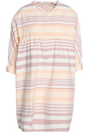 MARA HOFFMAN Striped cotton-canvas mini dress
