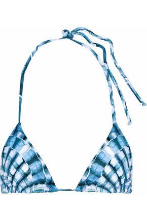 MARA HOFFMAN Printed halterneck bikini top