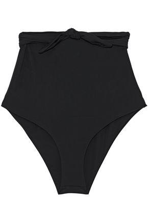 MARA HOFFMAN High-rise tie-front bikini briefs