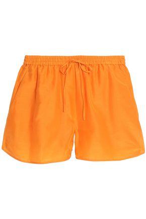 DIANE VON FURSTENBERG Tie-front cotton and silk-blend shorts