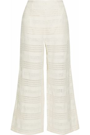 MARA HOFFMAN Basketweave cotton wide-leg pants