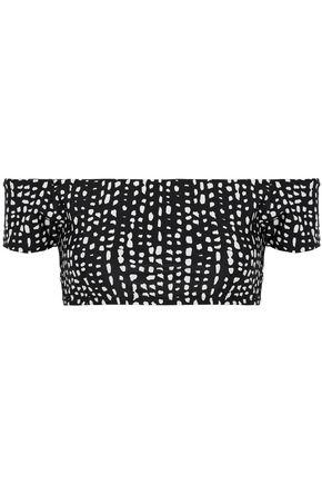 VIX PAULA HERMANNY Off-the-shoulder printed bikini top