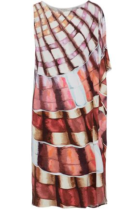 MARA HOFFMAN One-shoulder printed modal-blend coverup