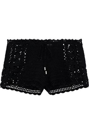 MELISSA ODABASH Crochet-knit cotton shorts