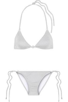 MELISSA ODABASH Metallic triangle bikini