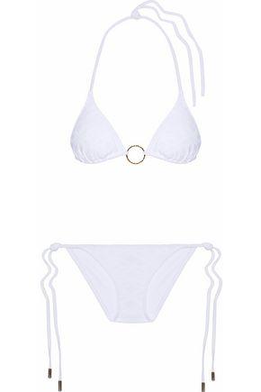 MELISSA ODABASH Jacquard triangle bikini