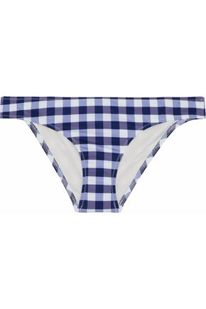 SOLID & STRIPED Low-rise gingham bikini briefs