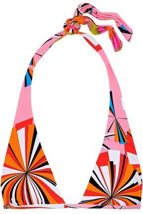 EMILIO PUCCI Reversible printed triangle bikini