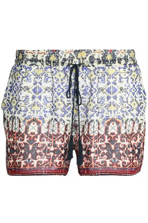 JOIE Printed silk shorts