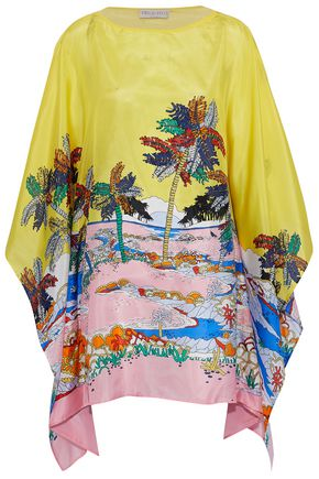 EMILIO PUCCI Draped printed silk top