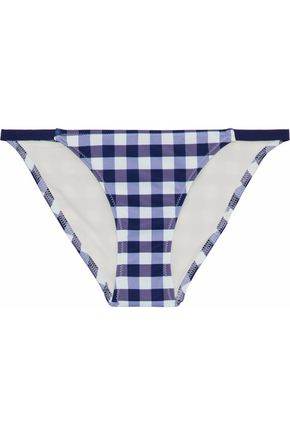 SOLID & STRIPED Gingham low-rise bikini briefs