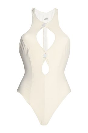 ALIX Cutout stretch-knit swimsuit