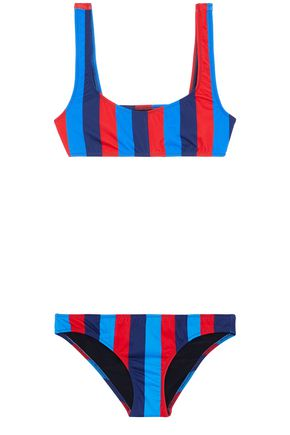 SOLID & STRIPED Low-rise printed bikini briefs