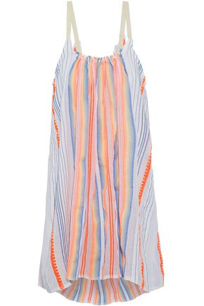 MASTER&MUSE x LEMLEM Striped cotton-blend gauze coverup