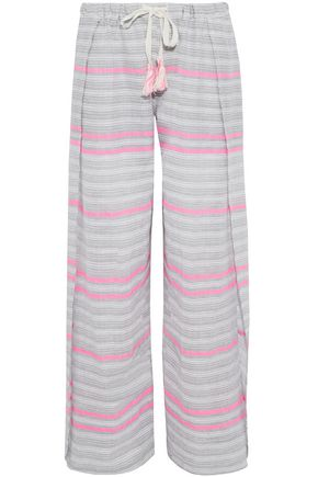 MASTER&MUSE x LEMLEM Striped cotton-gauze pants