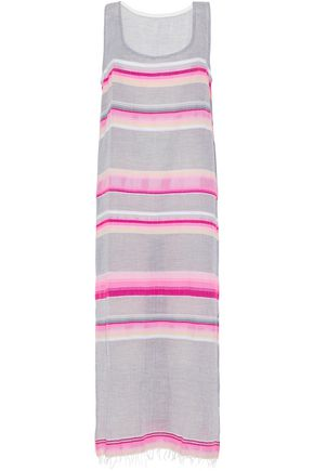MASTER&MUSE x LEMLEM Striped cotton-blend gauze maxi dress