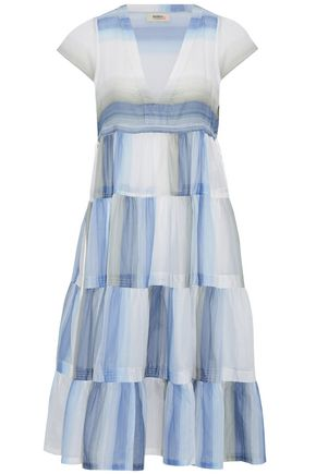 LEMLEM Tiered printed cotton-voile midi dress