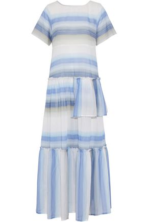 LEMLEM Striped cotton-gauze maxi dress