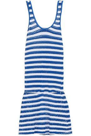 TART COLLECTIONS Striped crochet-knit coverup