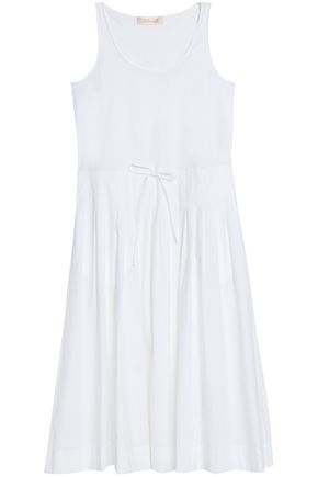 DIANE VON FURSTENBERG Gathered cotton-blend poplin midi dress
