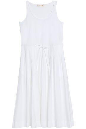 DIANE VON FURSTENBERG Gathered cotton-blend poplin midi dress