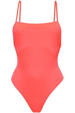 SOLID & STRIPED Stretch-knit swimsuit