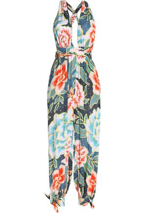 MARA HOFFMAN Printed open back cady cover up