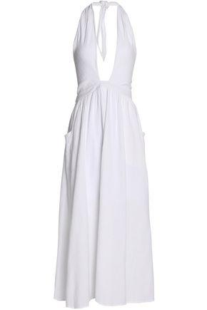 MARA HOFFMAN Cotton-gauze halterneck maxi dress