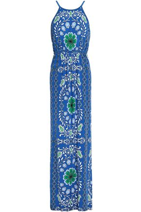 TORY BURCH Floral-print jersey maxi dress